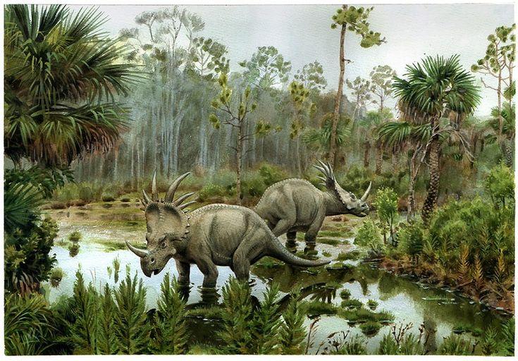 цератопсы у болота