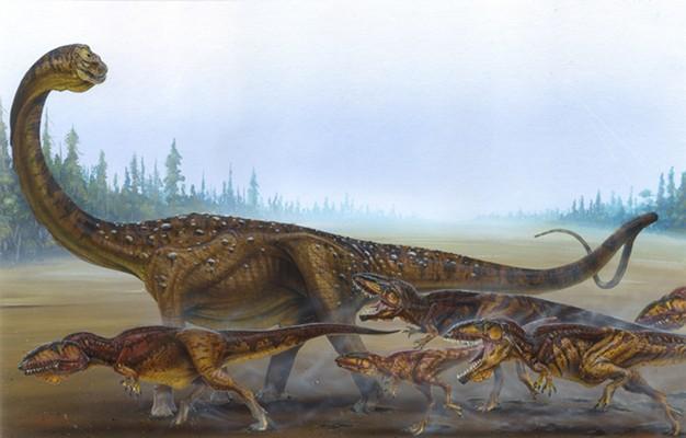 нападение гигантозавров на аргентинозавра