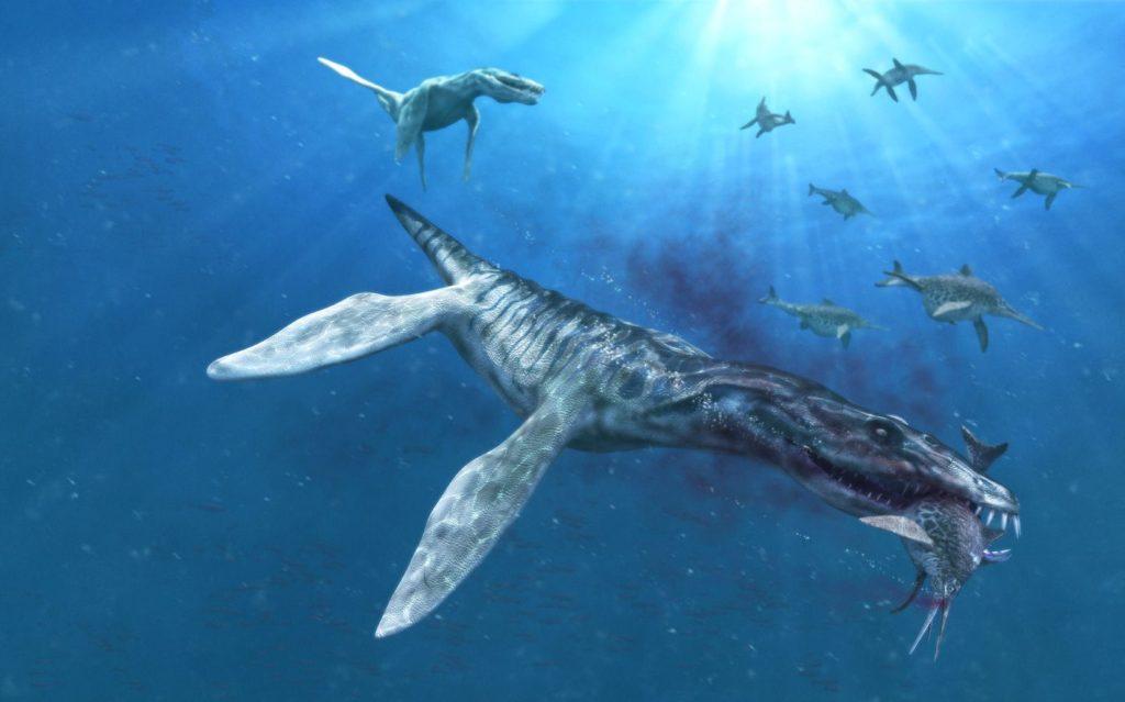 лиоплевродон атакует ихтиозавров