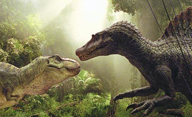 Спинозавр и тираннозавр рекс