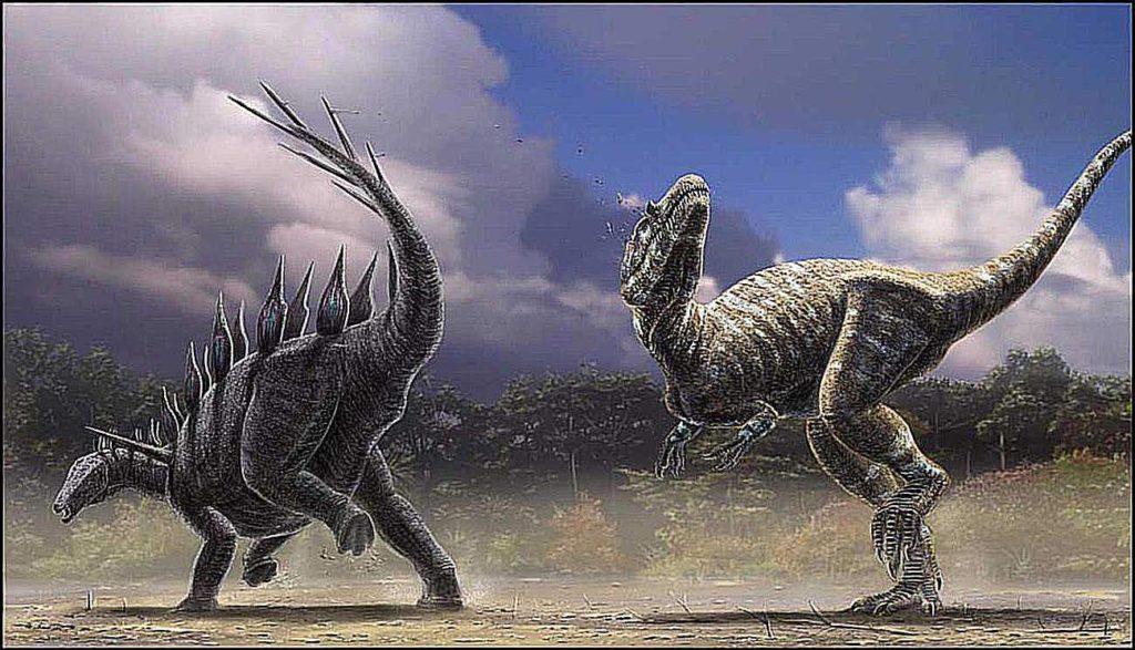 Аллозавр против стегозавра