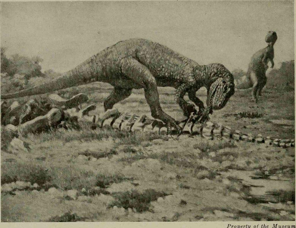 ранняя реконструкция аллозавра
