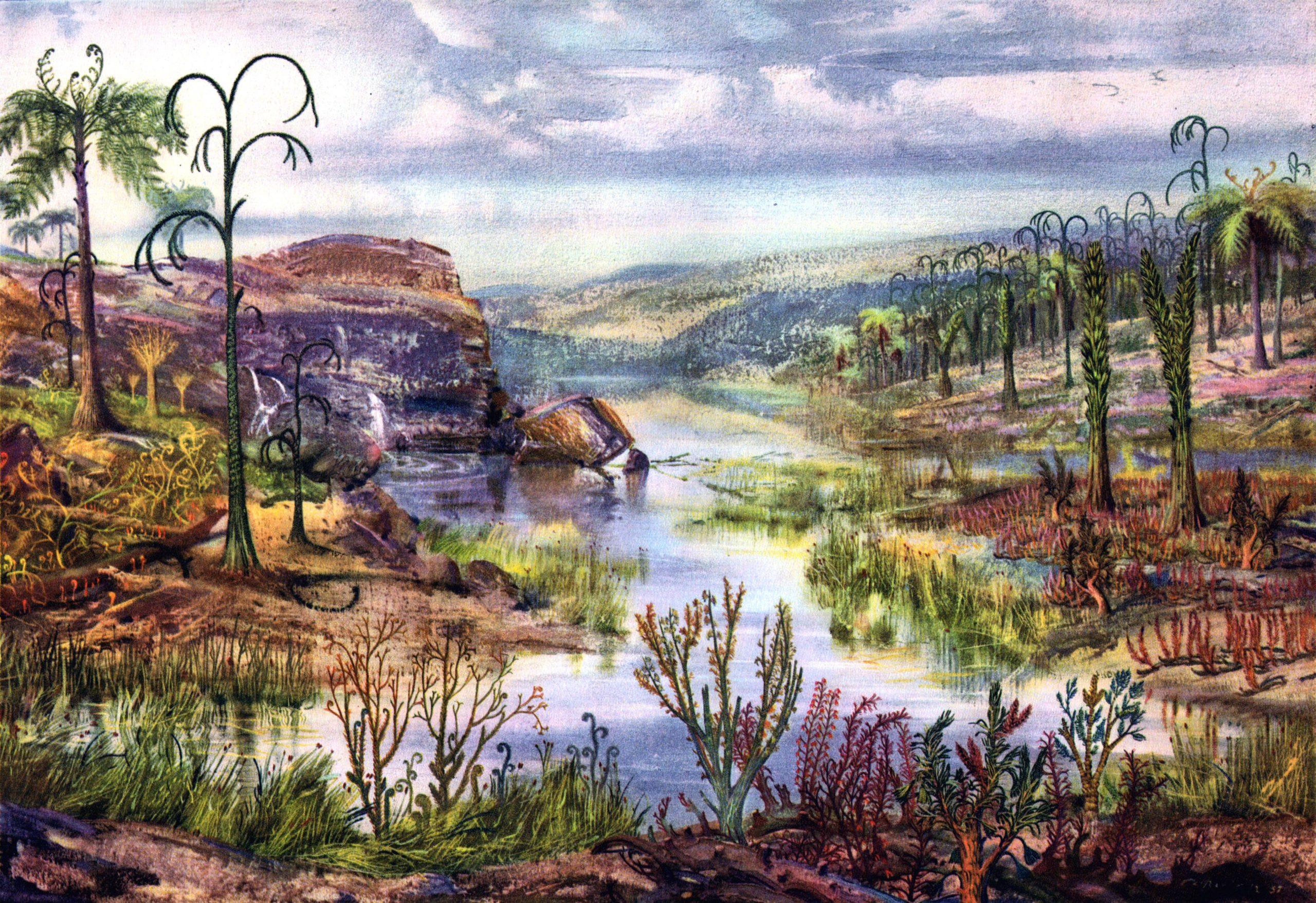 пейзаж девонского периода