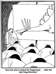 Карикатура тагомайзер. Far side, 1982